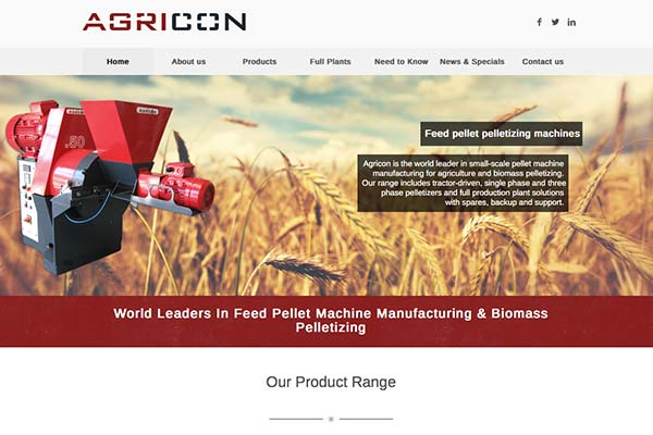 Agricon - Pelleting and Pelletizing Machine Manufacturing Solutions