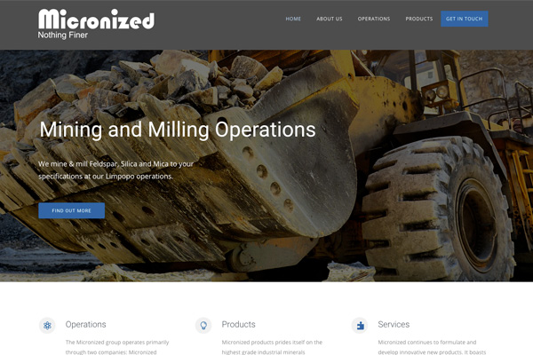 Micronized - Mining and Milling Operations based in South Africa
